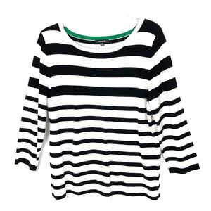 Premise   Black & White Striped Sweater